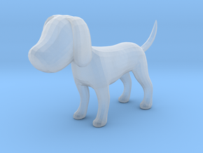 Yellow Earthy Dog in Smooth Fine Detail Plastic
