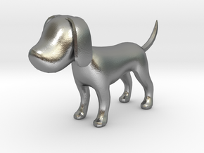Yellow Earthy Dog in Natural Silver