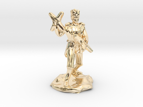 Circus Halfling Bard with Starknives in 14K Yellow Gold