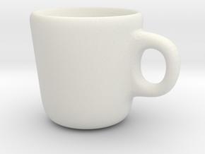 Simple Mug in White Natural Versatile Plastic