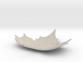 Defoliation ornament plate in Natural Sandstone: Small