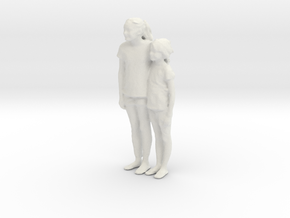 Printle C Couple 017 - 1/32 - wob in White Natural Versatile Plastic