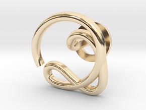 Cursive Q Cufflink in 14K Yellow Gold