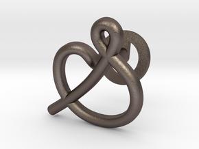 Cursive S Cufflink in Polished Bronzed Silver Steel