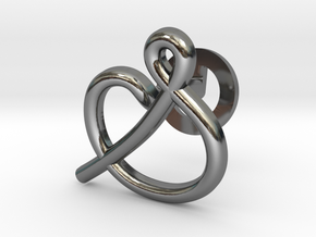 Cursive S Cufflink in Fine Detail Polished Silver