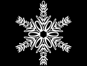 Olivia snowflake ornament in White Natural Versatile Plastic