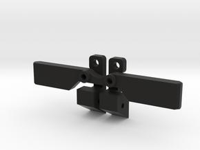 Vaterra Bronco GCM Scale Trans Combo Mounts Kit in Black Natural Versatile Plastic