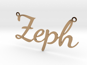 Zeph necklace in Polished Brass