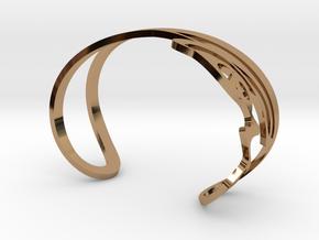 Infinity Love Bracelet in Polished Brass