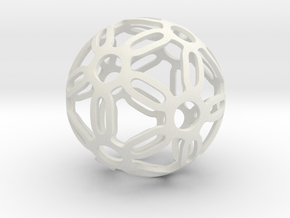 Symmetrical Pattern Sphere in White Premium Strong & Flexible: Medium