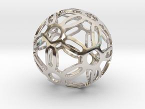 Symmetrical Pattern Sphere in Platinum: Medium