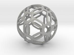 Symmetrical Pattern Sphere in Aluminum: Medium