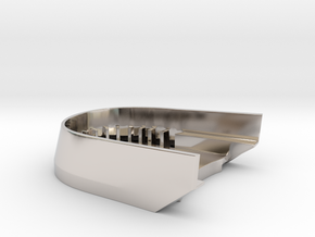 BoostedBoardV2_skid_plate in Rhodium Plated Brass