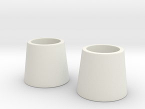 Cosplay Hair Cone v.1 (PAIR) in White Natural Versatile Plastic