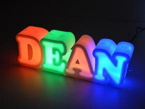 Name night light in White Strong & Flexible