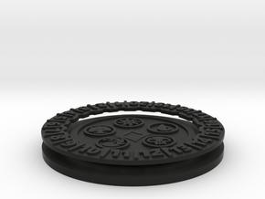 MTG Mana Symbol Life Counter  in Black Natural Versatile Plastic