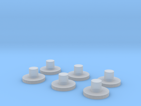 Spare Bogie Pins in Smooth Fine Detail Plastic