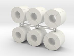 Coil Stahlblech 6erSet - 1:87 H0 in White Natural Versatile Plastic