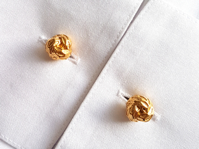 Little Dragon, Cufflinks. Pure, Strong. in 18k Gold Plated Brass