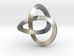 Knotted Mobius Band (small) in Natural Silver