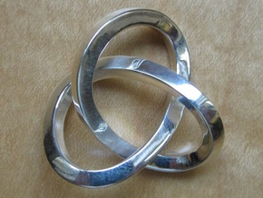 Knotted Mobius Band (small) in Polished Silver