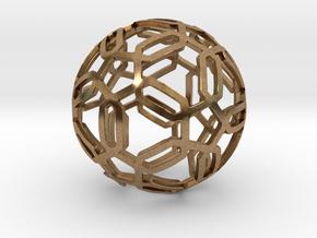 Pentagon Pattern Sphere in Natural Brass: Medium