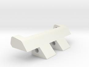 Pebble Steel To 22mm Flat Edge in White Natural Versatile Plastic