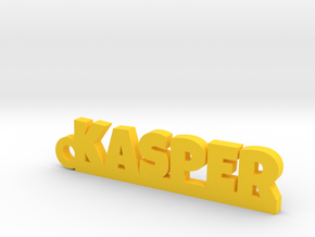 KASPER_keychain_Lucky in Yellow Strong & Flexible Polished
