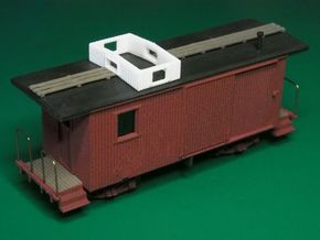 HOn30 Freelance Caboose (ex Boxcar) in White Strong & Flexible