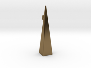 Minimalist pyramidal pendant or earrings in Polished Bronze: Small