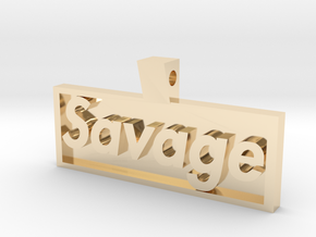 savage pendant in 14K Yellow Gold