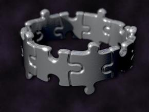 Puzzle Ring 01 size 10 in Raw Silver