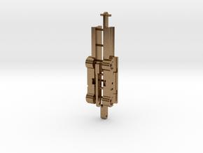 Doppelachsgetriebe 1:15 für Herpa Zugmaschine 8x4 in Natural Brass