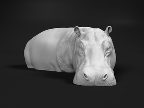 Hippopotamus 1:72 Standing in Water in Smooth Fine Detail Plastic