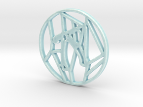 Personalised Voronoi Circular Trivet - Porcelain in Gloss Celadon Green Porcelain