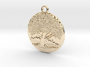 The big old tree in 14K Yellow Gold