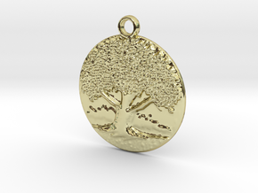 The big old tree in 18k Gold Plated Brass