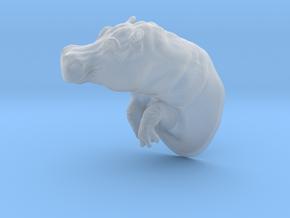 Hippopotamus 1:22 Splashing in Water in Smooth Fine Detail Plastic