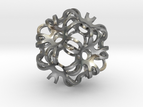 Outward Deformed Symmetrical Sphere in Natural Silver