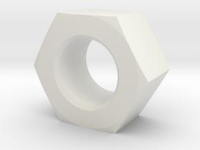 NUT_M20 in White Natural Versatile Plastic