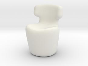 Miniature Mini Papilio Chair - B&B Italia in White Natural Versatile Plastic: 1:48 - O