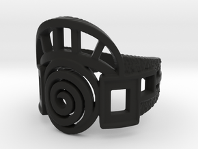 Archway Ring in Black Natural Versatile Plastic: 5 / 49