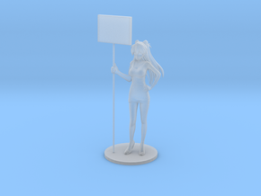 1/64 Race Queen Asuka Holding Board in Smoothest Fine Detail Plastic