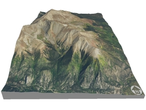 "Mount Elbert Map: 6""x9"" in Full Color Sandstone"