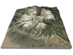 "Blanca Peak Map: 6""x6"" in Glossy Full Color Sandstone"