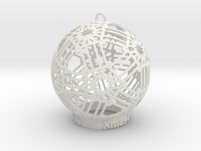 Creator Ornament in White Natural Versatile Plastic