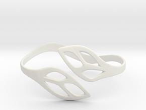 FLOS Bracelet. Smooth Elegance. in White Premium Versatile Plastic: Extra Small