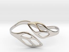 FLOS Bracelet. Smooth Elegance. in Platinum: Extra Small