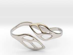FLOS Bracelet. Smooth Elegance. in Rhodium Plated Brass: Extra Small