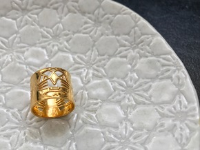 3 Fearless Warriors ring size 6 (M) in 14k Gold Plated Brass